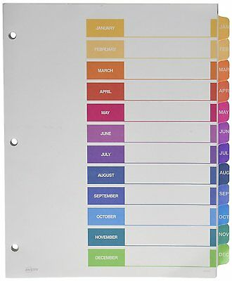 Avery Ready Index Table of Contents Dividers, 12-Tab, Jan-Dec 11127 DIVIDER-AOI