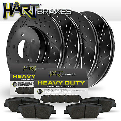 GOLD HART DRILLED SLOTTED BRAKE ROTORS AND HEAVY DUTY PAD GHCC.67071.02 FULL