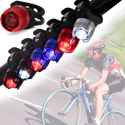 LED Bicycle Cycling Bike Front Rear Tail Helmet Flash Light Safety Warning Lamp@