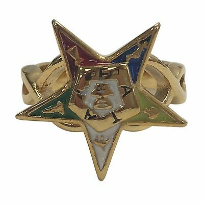 FZ4684-5 Order of the Eastern Star OES Star Ring - Size 5