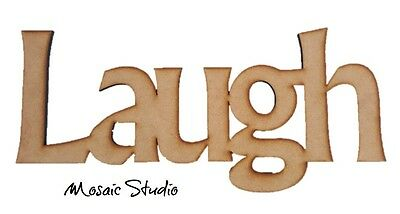 LAUGH - Wooden Cut-out - 400x160mm