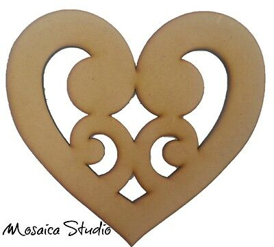 Koru Heart - Wooden Cut-out 300x300mm