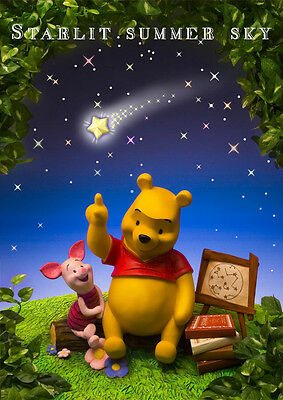 Disney Winnie the Pooh Starlit Summer Sky 3D Lenticular Greeting Card Postcard