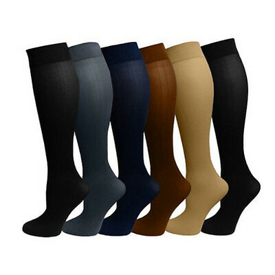 MltiColor Compression 30-40mmHg Anti Embolism Stockings Stovepipe Socks Thin Leg
