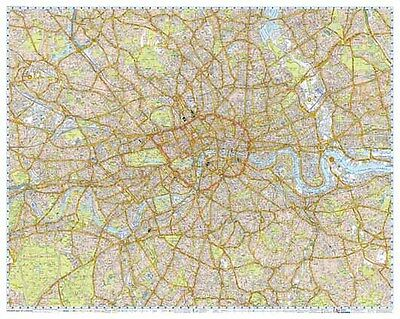 London Premier Street Map by A-Z Maps (GLOSS ENCAPSULATED WALL MAP) 2017