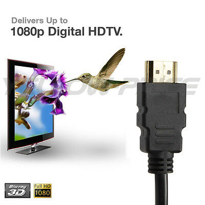 0.5m ~ 20m Full HD Premium HDMI Cable V1.4 Gold Plated 3D High Speed Ethernet