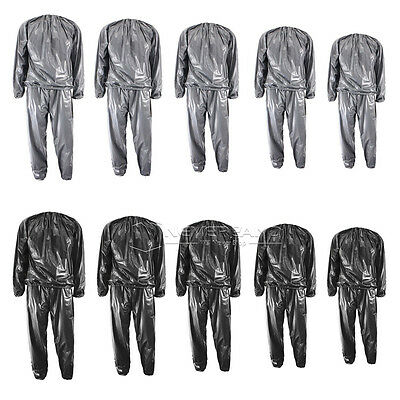 Heavy Duty Sweat Sauna Suit Gym Exercise Training Fitness Weight Loss Anti-Rip