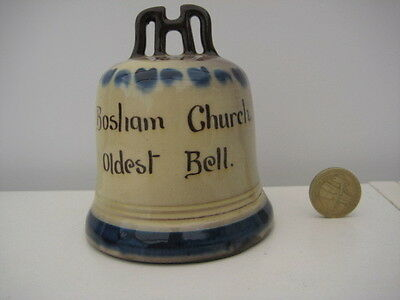 Very Rare Vintage Devon Motto Ware Figural Bosham Abbey Oldest Bell R B 1542