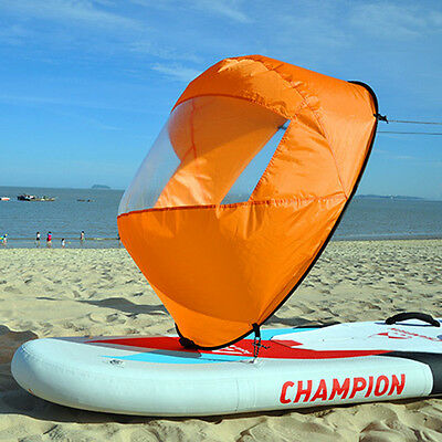"Portable Wind Paddle 42"" Downwind Instant Popup Canoe Kayak Sail Accessories"