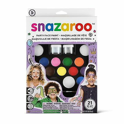 Snazaroo Face Paint Ultimate Party Pack Body Painting Kit for 65 faces Make Up