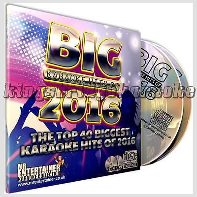 Mr Entertainer Big Karaoke Hits 2016 - 40 Chart Tracks on 2 CD+G/CDG Discs Set