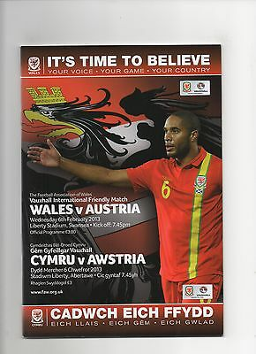 Wales v Austria (International Friendly) 2012-2013