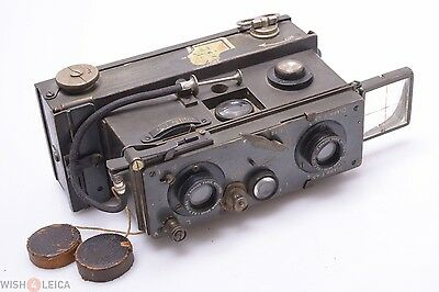 RICHARD VERASCOPE FOCUSING MODEL KRAUSS, ZEISS 55mm 4.5 TESSAR 3D STEREO CAMERA