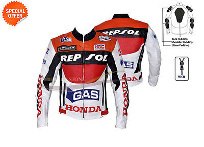 racing leather jacket in cowhide leather repsol racing leather jacket any size