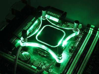 XSPC RayStorm V3 CPU Water/Liquid Cooling Block - SPECIAL GREEN VERSION (Intel)