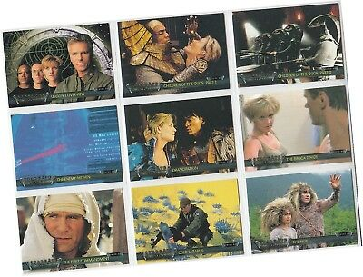 Stargate SG-1 Premiere (Seasons 1 to 3): 72 Card Basic/Base Set