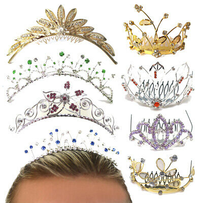 Tiara Combs Kids Princess Fancy Dress Crystal Crown Hen Party Hair Accessories