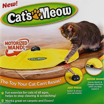 Cat Meow Toy Undercover Mouse Fabric Move Electronic Fun Cat Kitten Pet Toys NEW