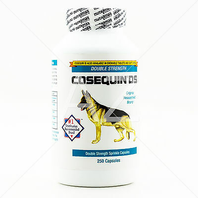 COSEQUIN DS For Dogs 250 Sprinkle Capsules Nutramax Double-Strength Hip Joint