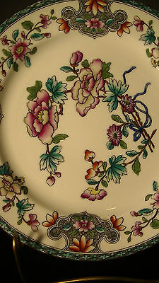 """Royal Worcester Old Hand Painted Chinese Floral Plate #9118 from 1912, 10 3/8"""""""