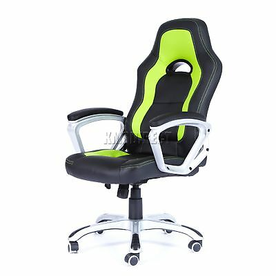 FoxHunter Computer Executive Office Chair PU Leather Swivel High Back OC07 Green