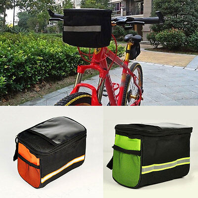 Black Bicycle Cycling Bag Front  Quick Bike Handlebar Bar Basket Release 2016
