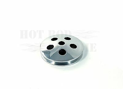 """4 1/2"""" Type II Power Steering Pump Pulley Only Natural Finish SWP SBC"""