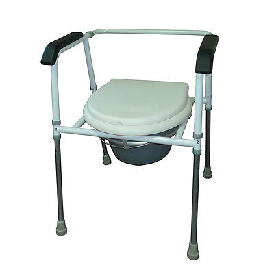 Commode With Snap On Seat For Support