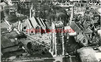 Real Photographic Postcard Of St. Lawrence's Church, Evesham, Worcestershire
