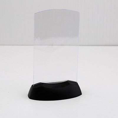 Acrylic Flashing Led Light Table Menu Restaurant Card Display Holder Stand DP