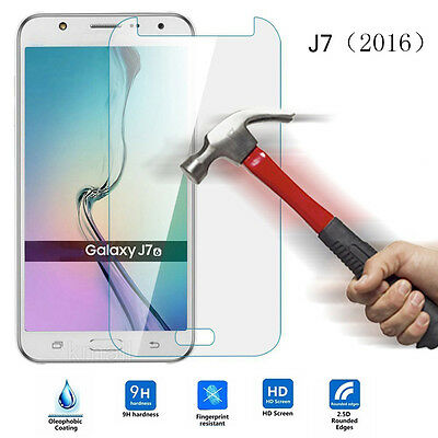 For Samsung Galaxy J7 2016 Tempered Glass Screen Protect Anti-Explosion Case VT5