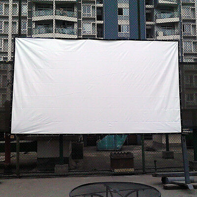 16:9 Outdoor Home KTV Projector Screen HD Movie Cinema Theater 100inch