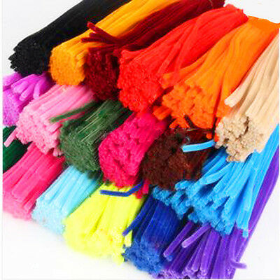 100Pcs Creative Colorful Chenille Stems Pipe Cleaners Kindergarden DIY Material
