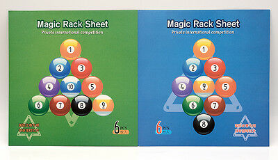 Magic Ball Rack template for construction of 9 + 10 Balls - 6 pieces