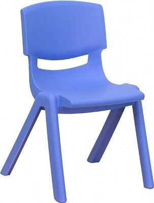 Flash Furniture YU-YCX-001-BLUE-GG Blue Plastic Stackable School Chair With