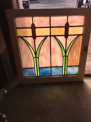 Sorr1 Available Priced Each Cat Tail Stainglass Windows Antique
