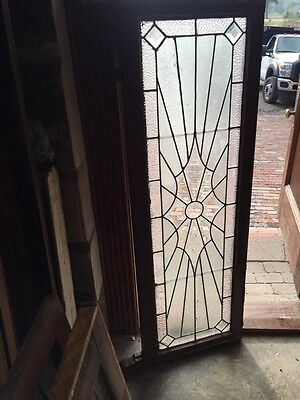 Sg 814 Antique Sunburst Pattern Transom Window Beveled Glass Center