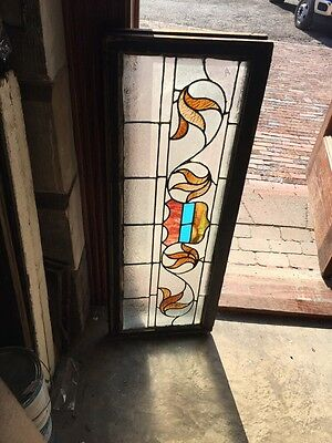 "Sg 818 Antique Transom Window 16"" X 42"""