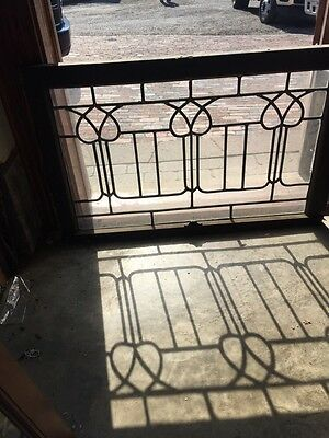 Sg 820 Antique Leaded Glass Floral Design Window