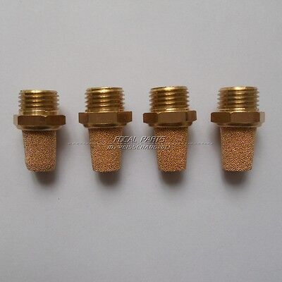 "4PCS Pneumatic Muffler Filter Sintered Bronze 1/4"" NPT Brass Silencer M43"