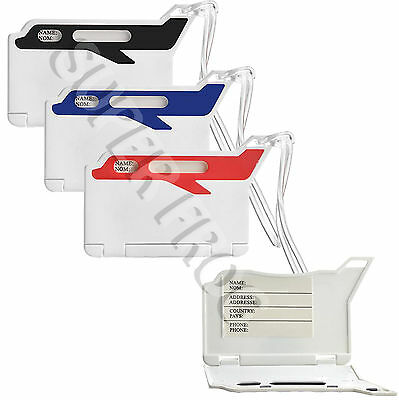 Plastic Travel Bags Luggage Tag Suitcase Label Address ID Holiday Tags Name Bag