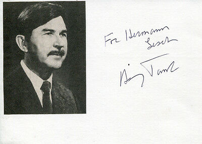 Henry Taube (+) autograph Nobel Prize in Chemistry 1983, signed card
