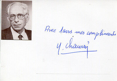 Yves Chauvin autograph Nobel Prize in Chemistry 2005, signed card