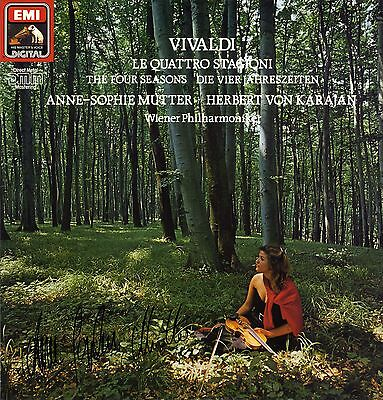 Anne-Sophie Mutter VIOLINIST autograph IP signed record cover