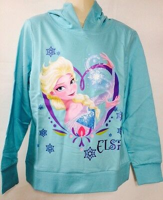 "Girls Disney FROZEN "" ELSA"" Long Sleeved Hooded Jumper/ Sweats Age 7-8 Years New"