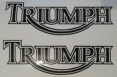 x2 Triumph Vinyl Decal Sticker Motorbike Tank Car Van ANY COLOUR