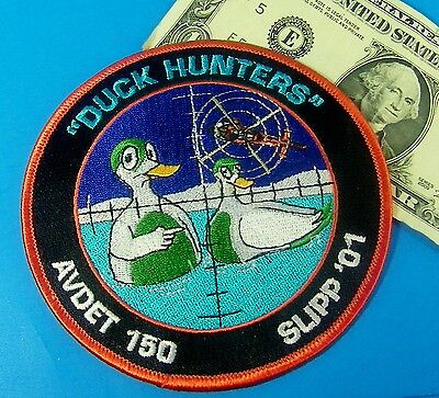 "U.s. Coast Guard Patch  Uscg "" Duck Hunters ""  Avdet 150  Slipp '01 #as"