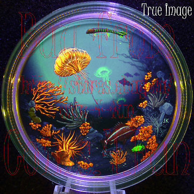 2016 Glow-In-The-Dark - Illuminated Underwater Coral Reef - $30 Pure Silver Coin