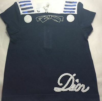 Baby Dior Mädchen T-Shirt  Baby Dior girls T-Shirt blue rosa NEW SALE NP149EUR