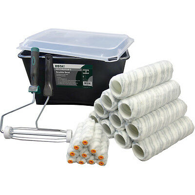 "Professional Paint Roller Set 23 Piece Trade Decorating Scuttle Kit 9"" (27705)"